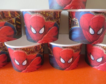 Spiderman Treat/Ice Cream Cups  - perfect for your Spidey fan