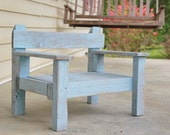 Reclaimed Wood Chair- Distressed Baby Blue