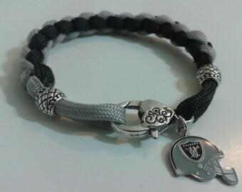 Oakand Raiders Paracord Bracelet