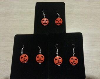 Jack~The Pumpkin King~ Dangle Earrings