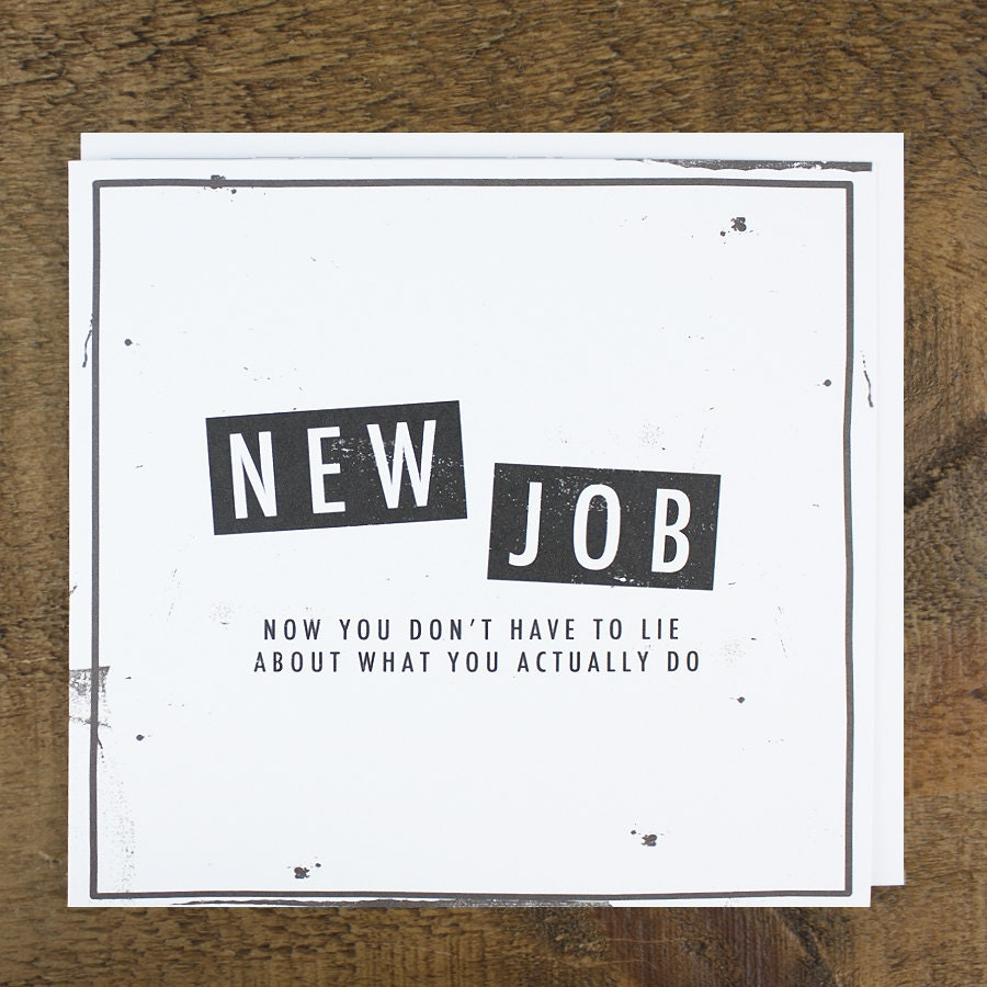 funny new job card promotion card congratulations card 128270zoom