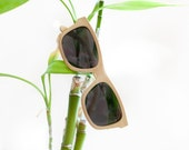 Unfinished Natural Wood Eco Handmade Sunglasses with Case
