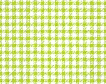 Lime Gingham  craft  vinyl sheet - HTV or Adhesive Vinyl -  lime green and white pattern   HTV203