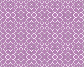 Orchid quarterfoil craft  vinyl sheet - HTV or Adhesive Vinyl -  orchid purple with white clover quatrefoil pattern vinyl HTV542