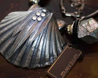 Vintage Ermani Bulatti Clam Shell Necklace