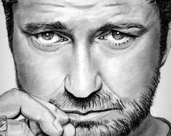 Gerard Butler drawing