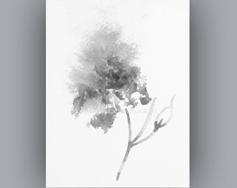 Downloadable images, Abstract Black and White flower painting, Instant Digital Download, from my original watercolour