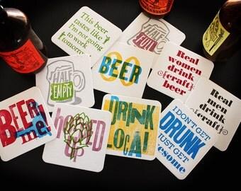 Beer Drinking Coasters