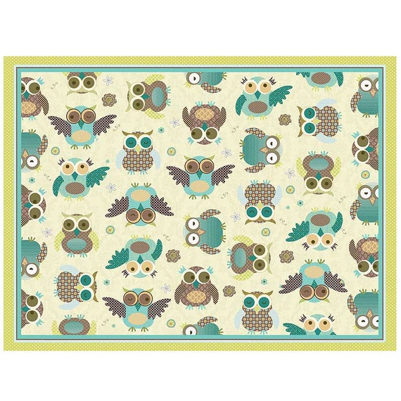 Owl Print Nursery Rug Turquoise By PaperBellaPrints On Etsy