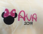Custom embroidered pillowcase with DISNEY character applique!  - disney world or cruise keepsake ~ have it autographed!! You choose color!