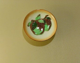 Double Apple Plate Wall Pocket Made in Occupied Japan