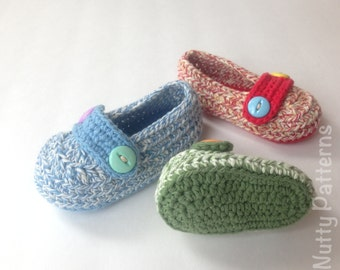 Crochet Pattern * His and Her Loafers * Instant Download #432 * for babies and toddlers *Pdf pattern * Newborn - 3Yrs