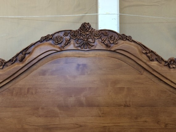 California King Bed French Provincial Headboard Footboard