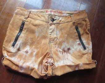 Orange Tie Dyed shorts