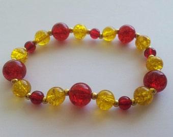 GRYFFINDOR house colors stretch bracelet