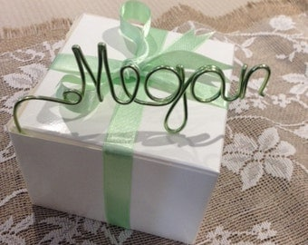 Custom Hand Made Wire Names for Place Cards or Guest Wedding Favors