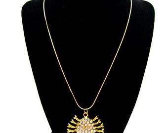 Rhinestone Sparkle Crab Necklace