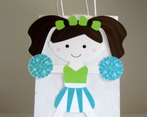 Cheerleader Goody Bags, Cheerleader Favor Bags, Cheerleader Gift Bags, Cheerleader Party Bags
