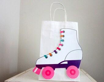 Roller Skate Goody Bags, Roller Skate Favor Bag, Roller Skate Gift Bags - Roller Skating Birthday - Roller Skate Birthday