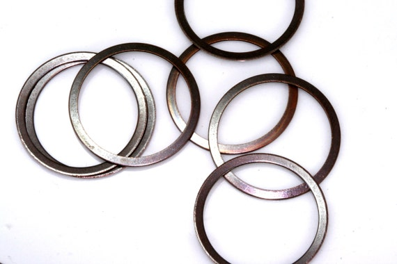 60 pcs 22 mm antique copper tone brass ring, findings  449AC-24