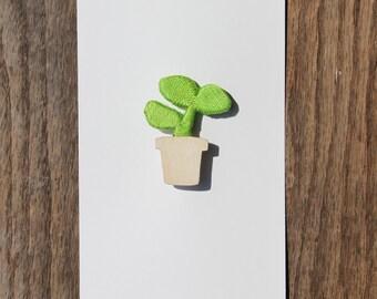 Plant Brooch 01