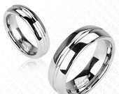 Tungsten His or Hers Grooved Stripe Wedding Band Ring Size 5-13TW