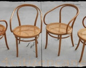 Vintage August Thonet Cane Arm Chairs #39 / 600.00 for the set