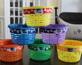 Set of 6 Paw Patrol Dogs Easter Baskets or Party Favor Containers
