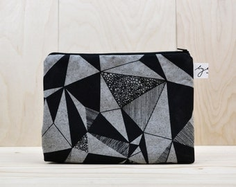 cosmetic bag folk. grey