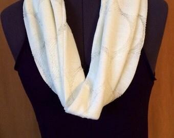 Soft white infinity scarf