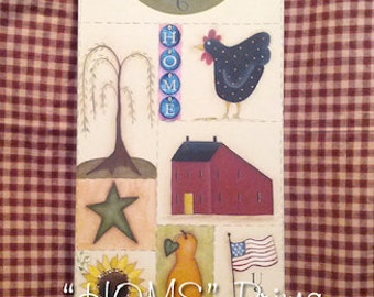 Home Prims - Painted by Cyndy McBride, Painting With Friends E Pattern