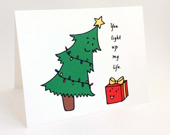 Cute Best Friend Christmas Card // Punny Holiday Love Card //