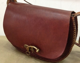 LEATHER BAG ''Different Colours'' :Handmade Leather bag