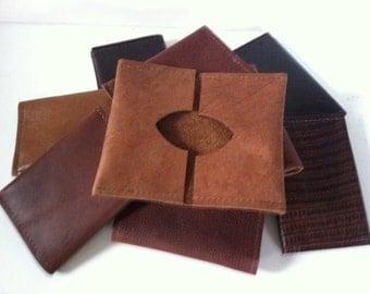 Bi-Fold Leather Credit Card Holder