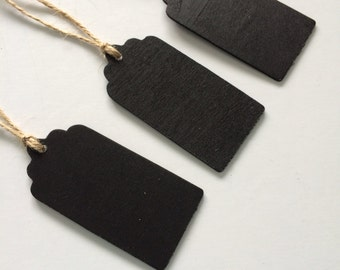 1 Wooden Chalkboard Tag-Place Setting Tags, Gift Tags, Wedding Favor Tags