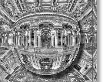Library of Congress Orb on Stretched Canvas