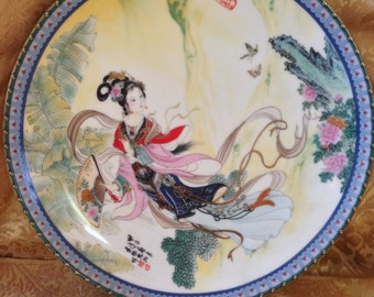 Vintage Plate from the Red Mansion collection of limited edition plates by Master Artisan Zhao Huimin.