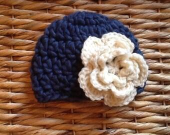 Crocheted wool blend beanie, crocheted baby hat, baby photo