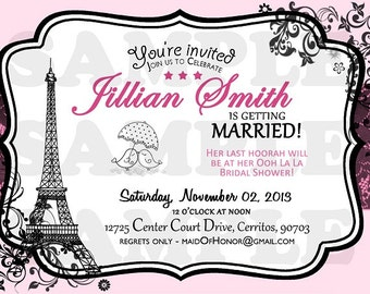 Paris Vintage Bridal Shower Invitation