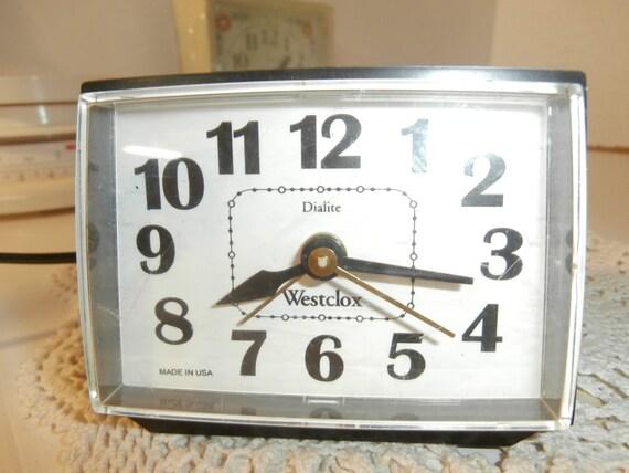vintage alarm clock bedroom clock black by davidstreasures