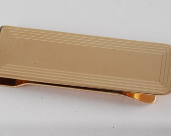 Vintage Collectible Hayward Gold Plated Thin Metal Money Clip New Old Stock