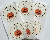 Snoopy and the Great Pumkin, Stickers, Birthday Party, Baby Shower, Halloween, Set of 6