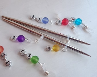 Knitting needle holder (numbered)