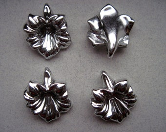 Vintage Metal Over Acrylic?  Flower Pendants/Beads