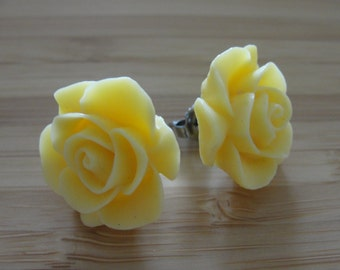 Large Yellow Flower Earrings