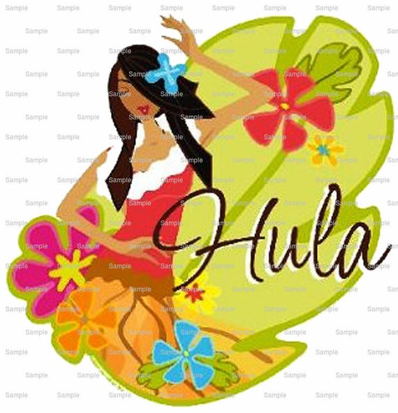 Hula Girl Wedding Cake Topper