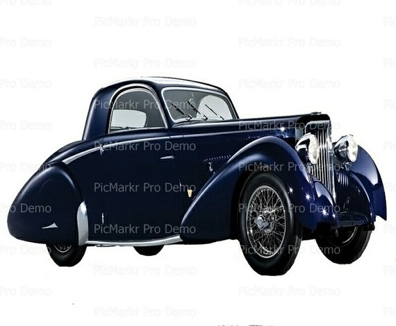 Classic Car Antique - Edible Cake and Cupcake Topper For Birthday's and Parties! - D9181