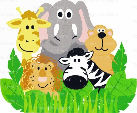 Zoo Animals Childrens Birthday - Edible Cake and Cupcake Topper For Birthday's and Parties! - D1100