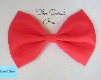 pink hair bow big hair bow girls hair bow large hair