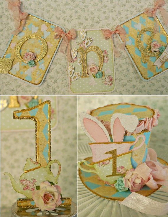 Alice in onederland 1st birthday party shabby chic for 1st birthday decoration packages
